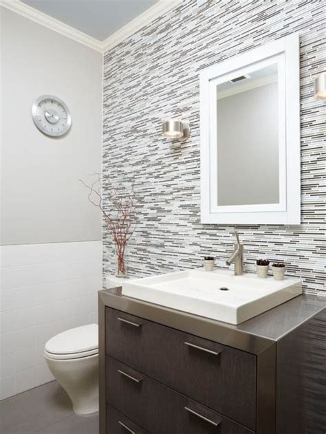 half bathroom tile ideas white square tile houzz