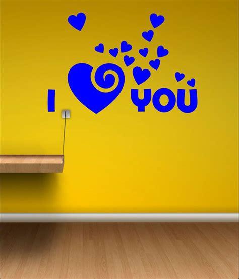 blue wall stickers wall1ders i u blue wall sticker buy wall1ders i