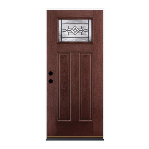 Shop Therma Tru Benchmark Doors Wickerpark Craftsman Prehung Fiberglass Exterior Doors