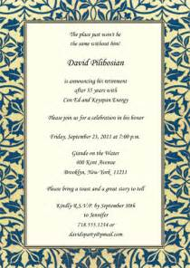 retirement invitation rpit 21 5x7
