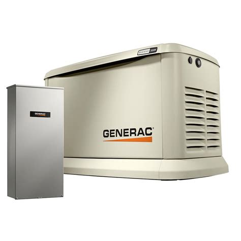 generac whole house generator generac 22 000 watt lp 19 500 watt ng air cooled standby generator with whole