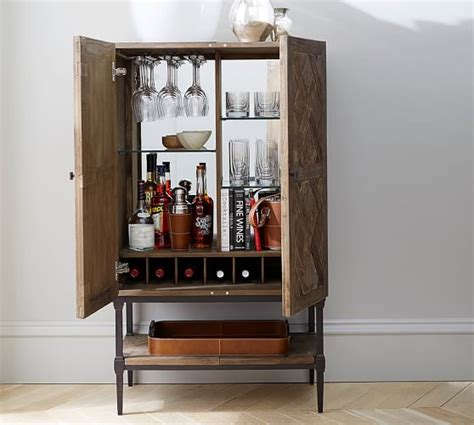 pottery barn red bar cabinet parquet bar cabinet pottery barn
