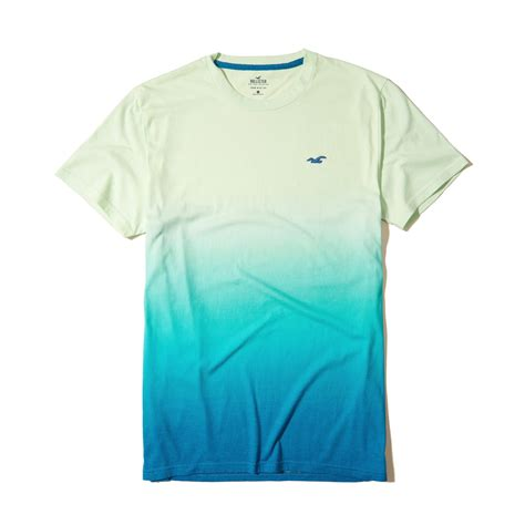 7 Must Shirts by Lyst Hollister Must Ombr 233 Crew T Shirt In Green For
