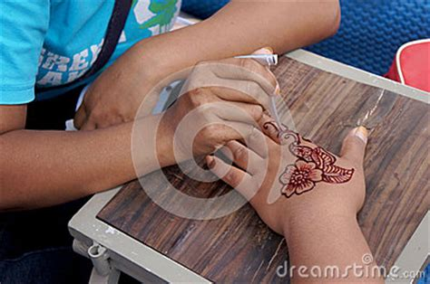 indonesia hand tattoo temporary tatto editorial image image 49368785