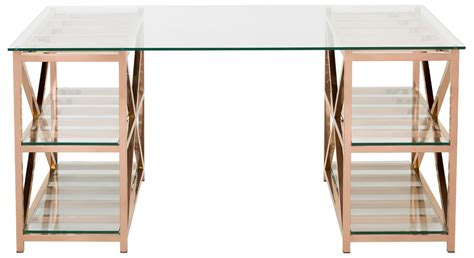 gold and glass desk desk with shelves on top hostgarcia