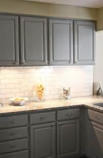 Gray Backsplash Kitchen white kitchen with grey subway tile backsplash home design ideas