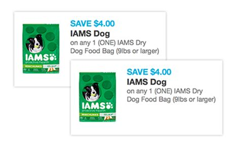 iams dog food coupons free printable high value 4 off iams dry dog food printable coupon