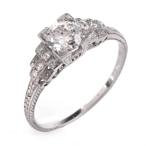 deco rings for sale antique deco platinum engagement ring for sale at 1stdibs