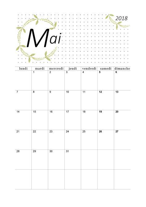 Calendrier Mai 2018 à imprimer - Calendriers PDF