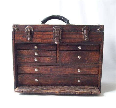 mens chest of drawers vintage wood machinist tool box chest of drawers