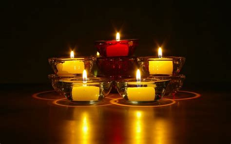 beautiful candles beautiful candle flower wallpaper hd wallpapers