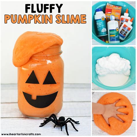 Halloween Pumpkin Making - fluffy pumpkin slime i heart arts n crafts