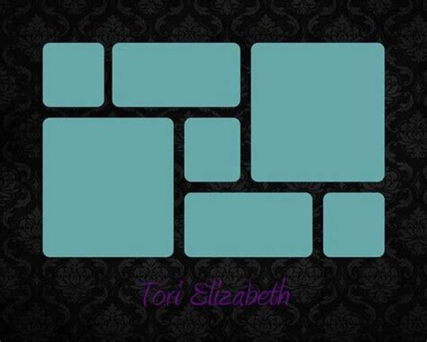 wall frame collage template name template black damask 8x10 11x14 16x20 story board