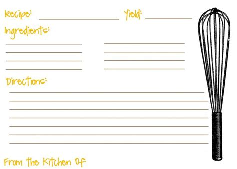 free template for 3x5 recipe cards recipe card template 3x5 and then you can size it to