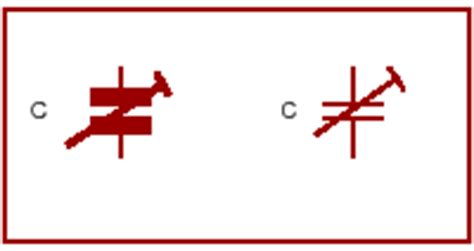 trimmer capacitor symbol schematic symbols
