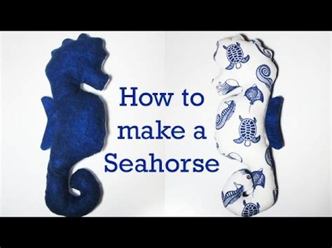 How To Make A Seahorse Out Of A Paper Plate - part 1 how to make a stuffed animal a seahorse