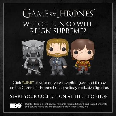 Funko Of Thrones Tyrion Battle Axe vote for the next funko pop figurine winter is coming