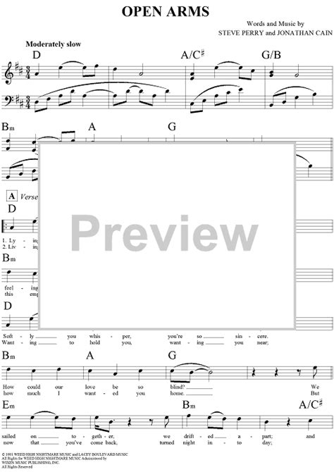 tutorial piano open arms open arms sheet music music for piano and more