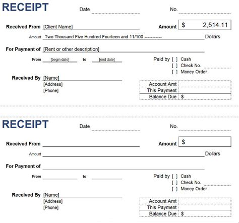 receipt for money received template free petty receipt templates invoiceberry