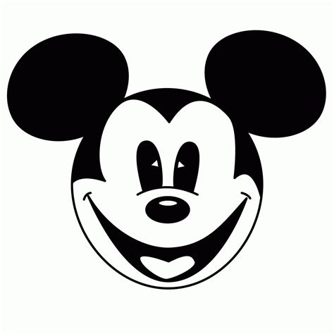 mickey mouse face template cliparts co