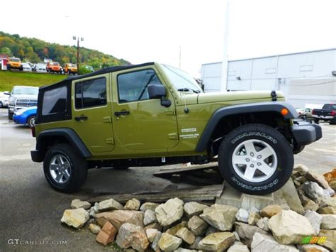 green jeep wrangler unlimited commando green 2013 jeep wrangler unlimited sport s 4x4