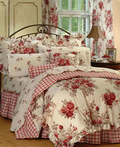 country bed sarahs rose comforter set diy pinterest