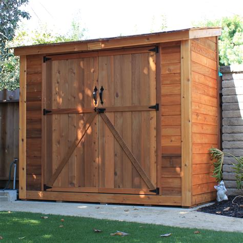 Outdoor Living Garden Shed by Outdoor Living Today Spacesaver 8 Ft W X 4 Ft D Garden