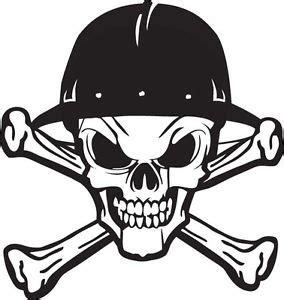 oilfield skull and cross bones hard hat sticker decal