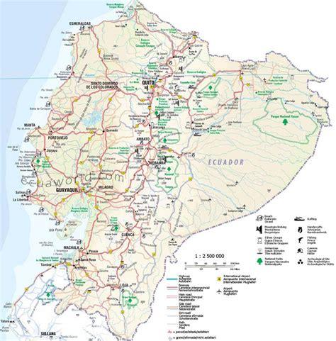 maps from maps of ecuador