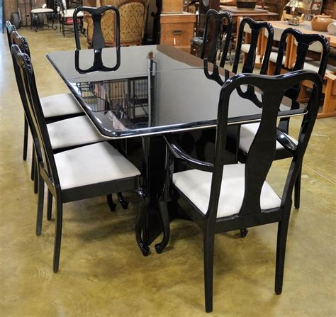 Lacquer Dining Table Sets Black Lacquer Dining Table And Chairs 9