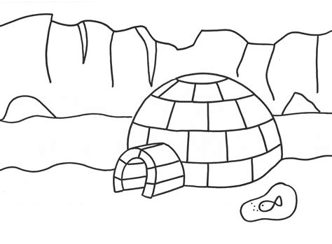 penguin igloo coloring page penguin igloo coloring page