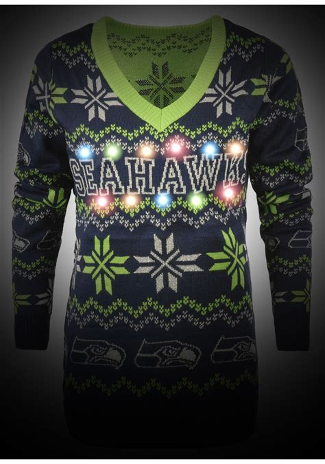 light up seahawks sweater seattle seahawks light up v neck bluetooth sweater for