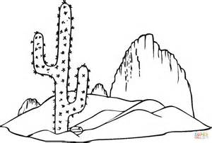 desert coloring pages saguaro cactus coloring page free printable coloring pages