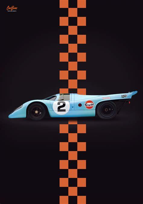 porsche poster porsche 917 2 gulf livery poster vertical car bone pl