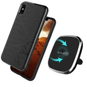 qi wireless charging pad  rotation car mount air vent holder magnetic case ebay