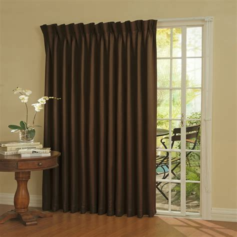 Patio Door Panels Curtains by Eclipse Thermal Blackout Patio Door Curtain Panel