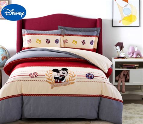 Mickey Mouse Bedding Set Children S Bed Duvet Covers Mickey Bedding