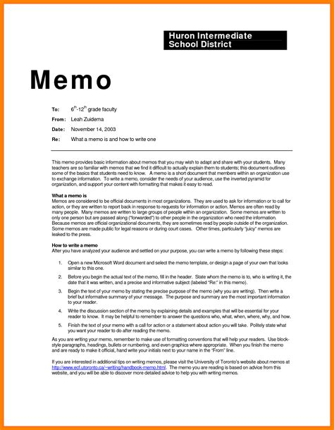 6 business memos format addressing letter
