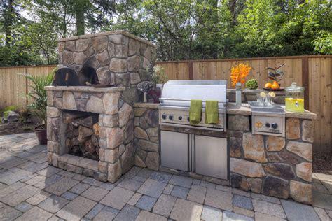 Portable Kitchen Island Designs pizza ovens versus bbq s