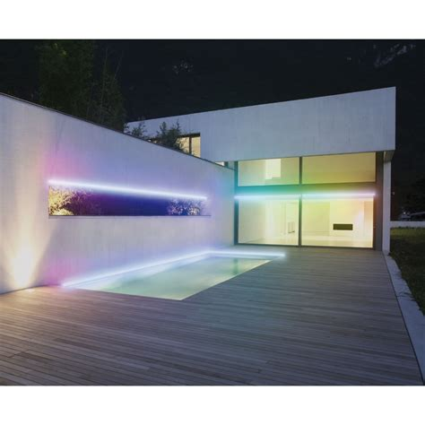 eclairage led ruban kit ruban led multicolore waterproof eclairage terrasse