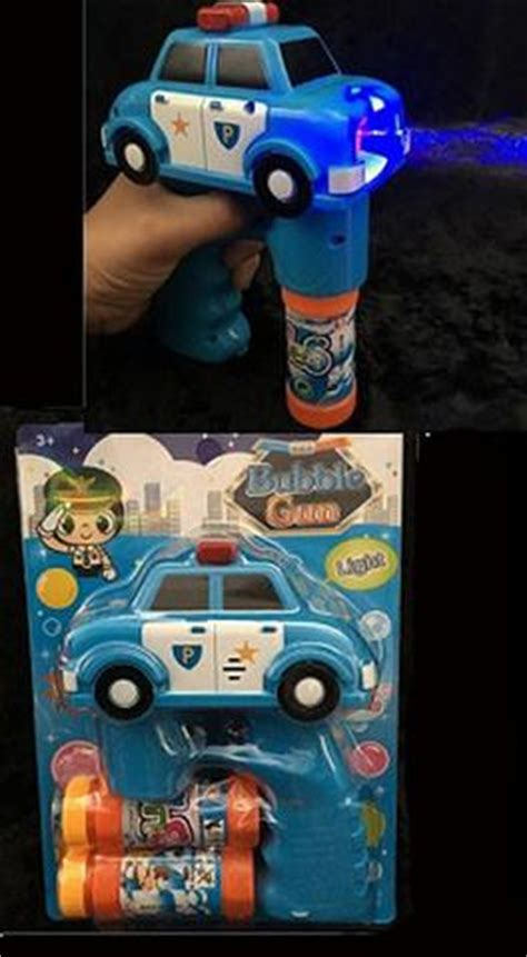 light up police car pd bubble gun with sound (sold by the
