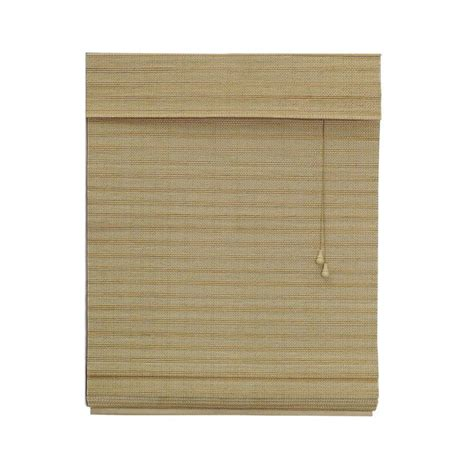 light blocking roman shades shop radiance wheat light filtering bamboo natural roman