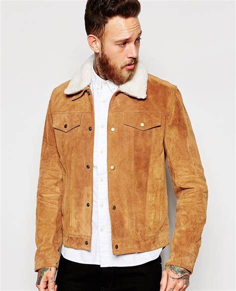 Jaket Suede Suede Jacket mens suede sheepskin jacket coat nj