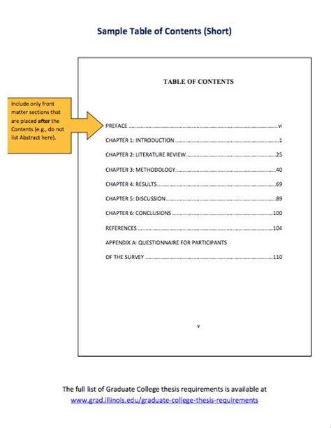 word table of content format multiple custom font large font no