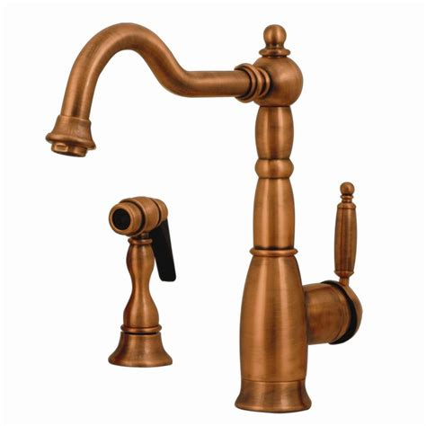 antique copper kitchen faucets shop whitehaus collection essexhaus antique copper 1