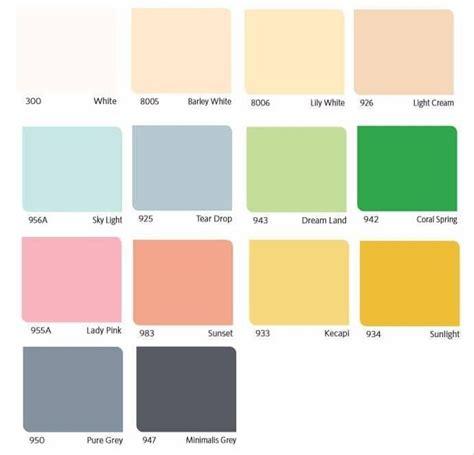 farahzahidah katalog warna cat tembok vinilex