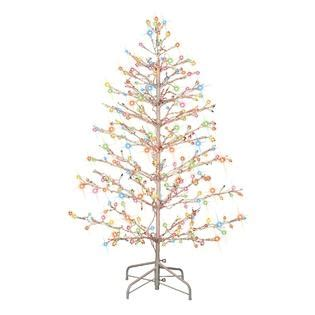 trim a home 174 5ft tree with multi colored lights decked out with sears