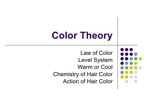 hair color theory color theory