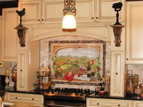 murals for kitchen backsplash vineyard kitchen decor pictures ideas tips from hgtv hgtv