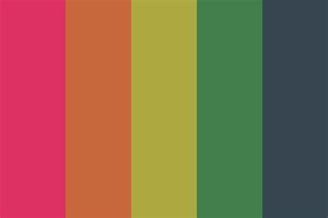 color cerise cerise to charcoal color palette